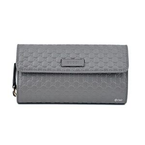 Gucci 449364 Leather Micro Gg Continental Wallet